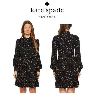KATE SPADE scatter polka dot shirt dress $398